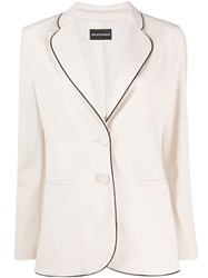 Emporio Armani Piped Single Breasted Blazer 60