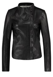 Freaky Nation Blow Up Leather Jacket Black