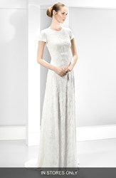 Women's Jes S Peir Embellished Embroidered Cap Sleeve Dress In Stores Only