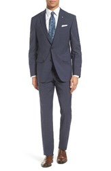 Ted Baker Men's London Jay Trim Fit Check Stretch Wool Suit