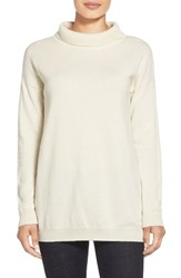Petite Women's Eileen Fisher Cashmere Turtleneck Top Soft White