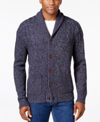 Tommy Bahama Men's Shawl Collar Cable Knit Cardigan Coastline
