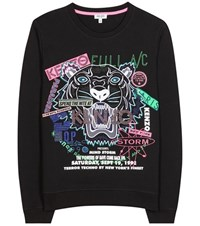 Kenzo Embroidered Cotton Sweater Black
