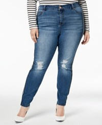 Celebrity Pink Plus Size Ripped Skinny Jeans Lila