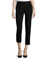 Haute Hippie Skinny Cropped Pants W Tuxedo Stripe Black Dark Midnight