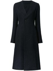 08Sircus Single Button Flared Coat Black