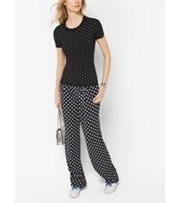 Dot Studded Short Sleeve Sweater Black
