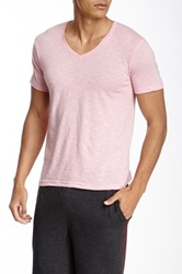 Bottoms Out Slub Knit V Neck Tee Pink