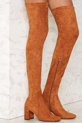 Jeffrey Campbell Cienega Over The Knee Suede Boot Brown