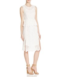 Whistles Clementine Circle Lace Peplum Dress 100 Bloomingdale's Exclusive Ivory