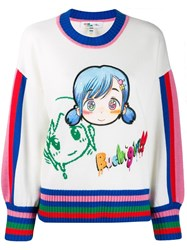 Mira Mikati Embroidered Character Jumper White