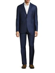 Burberry Millbank Travel Wool Suit Blue