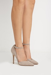 Forever 21 Faux Suede Pointed Pumps Taupe