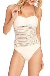 Robin Piccone Perla Badeau One Piece Swimsuit Eggs Shell