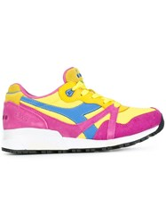 Diadora Panelled Sneakers Yellow And Orange