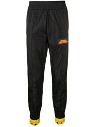 Palm Angels Slim Fit Tapered Track Trousers Black