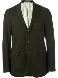Massimo Alba Three Button Blazer Green