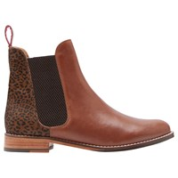 Joules Westbourne Leather Chelsea Boots Brown Leopard