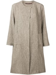 Daniela Gregis Textured Coat Neutrals