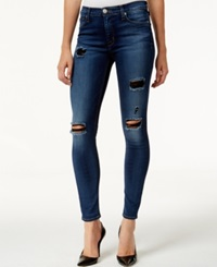 Hudson Jeans Ripped Super Skinny Jeans Apocalypse Wash