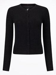 Jigsaw Cloud Cashmere Neat Cardigan Black