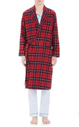 Sleepy Jones Men's Glenn Long Robe Red