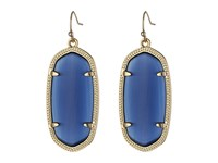 Kendra Scott Elle Earring Gold Navy Cat's Eye Earring Blue
