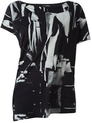 Ann Demeulemeester Abstract Print T Shirt Black