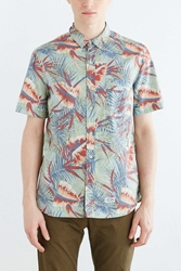 Cpo Hollis Printed Palm Button Down Shirt Turquoise