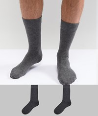 Selected Homme Socks 2 Pack Grey Grey