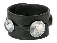 King Baby Studio Leather Cuff Bracelet W Half Dollar And 2 Quarter Dollar Coins