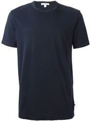 James Perse Round Neck T Shirt Blue