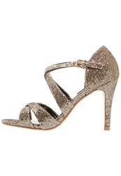 Dorothy Perkins Becca High Heeled Sandals Metallic Gold
