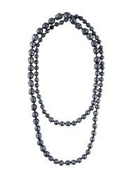 Chanel Vintage Double Faux Pearl Necklace Grey