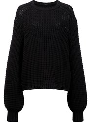 Adam By Adam Lippes Balloon Sleeve Jumper Black