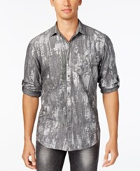 Inc International Concepts Men's Classic Fit Metallic Print Shirt Only At Macy's Grey Combo