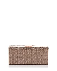 Sondra Roberts Metal Mesh Clutch Grey