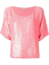 P.A.R.O.S.H. Sequin Blouse Pink And Purple