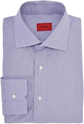 Isaia Hairline Stripe Dress Shirt Colorless