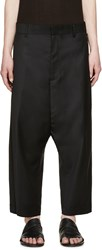 D.Gnak By Kang.D Black Wool Cropped Trousers