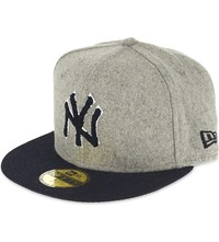 New Era 59Fifty New York Yankees Fitted Cap Grey Navy