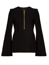Ellery Minnelli Flared Sleeve Crepe Top Black