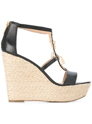 Michael Michael Kors Suki Wedge Sandals Black