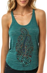 Junior Women's O'neill Paisley Graphic Burnout Racerback Tank