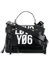 Red Valentino Contrast Tote Bag Black