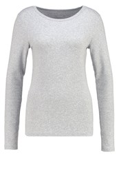 Gap Long Sleeved Top Heather Grey Mottled Grey