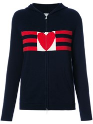 Chinti And Parker Love Heart Hoodie Women Cashmere L Blue