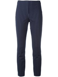 Rag And Bone Striped Leggings Blue