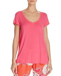 Josie Scoop Neck Tee Cosmo