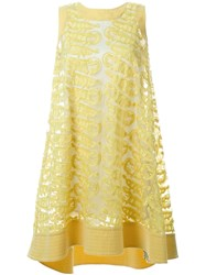 Tsumori Chisato Embroidered Detail Loose Dress Yellow And Orange
